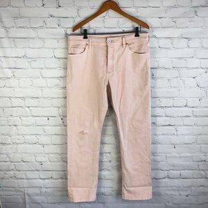 Anthro Pilcro Letterpress Pink Slim Straight Jean
